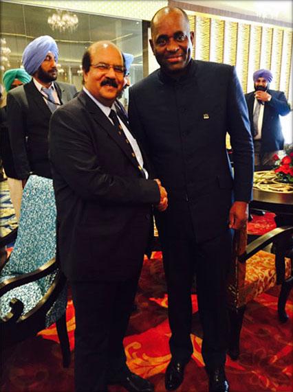 Dr. CA Ashwani Kumar with HonourableRooseveltSkerrit, Prime Minister of Dominica