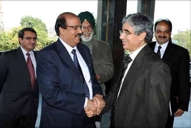 Dr. CA Ashwani Kumar with Sh.O P Bhatt, former SBI Chairman