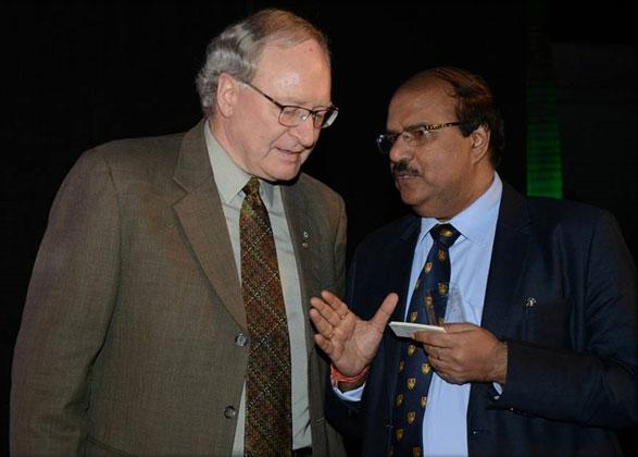 Dr. CA Ashwani Kumar with Wade MacLauchlan, premier of Prince Edward Island, Canada